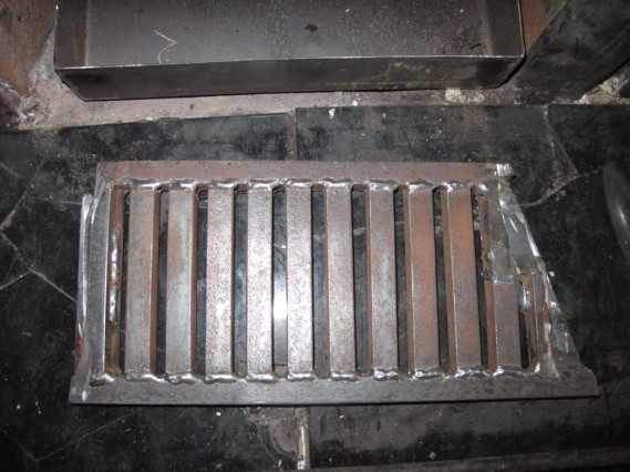 bottom of grate after