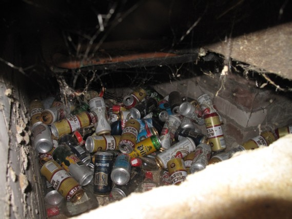 Beer Cans under the Floor