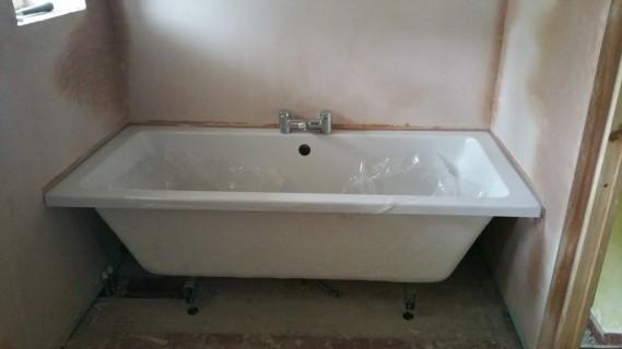 Bath installed