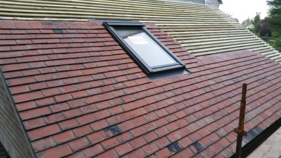 Half roof on